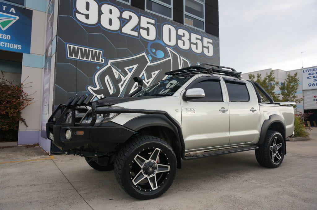 Toyota Hilux with Hussla Defenda Wheels