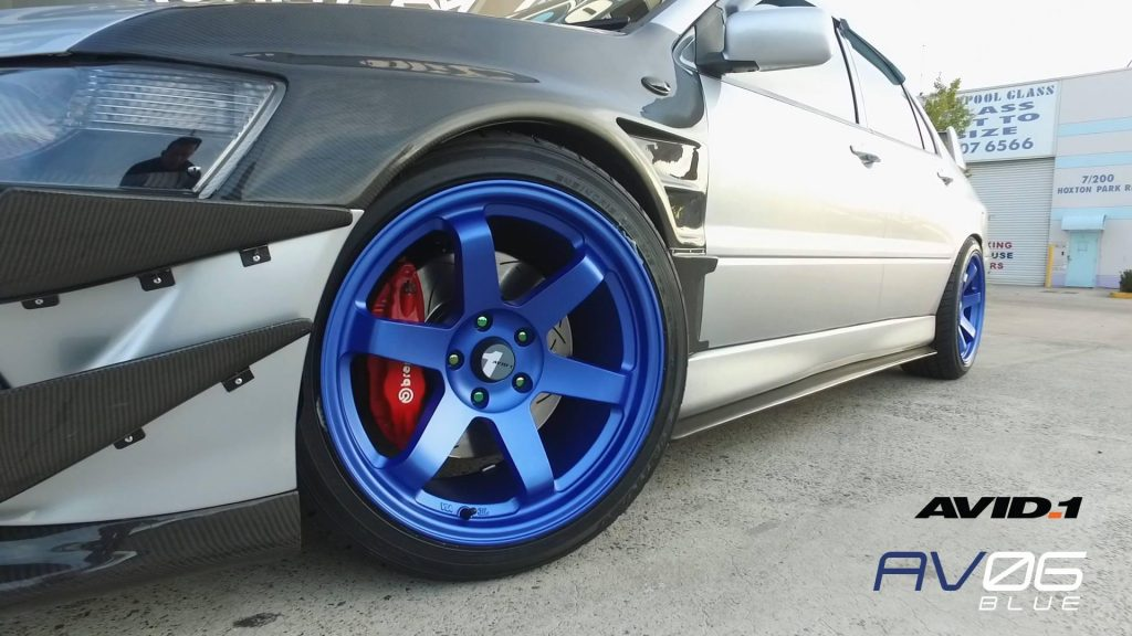 blue-avid-1-wheels-on-mitsubishi-lancer