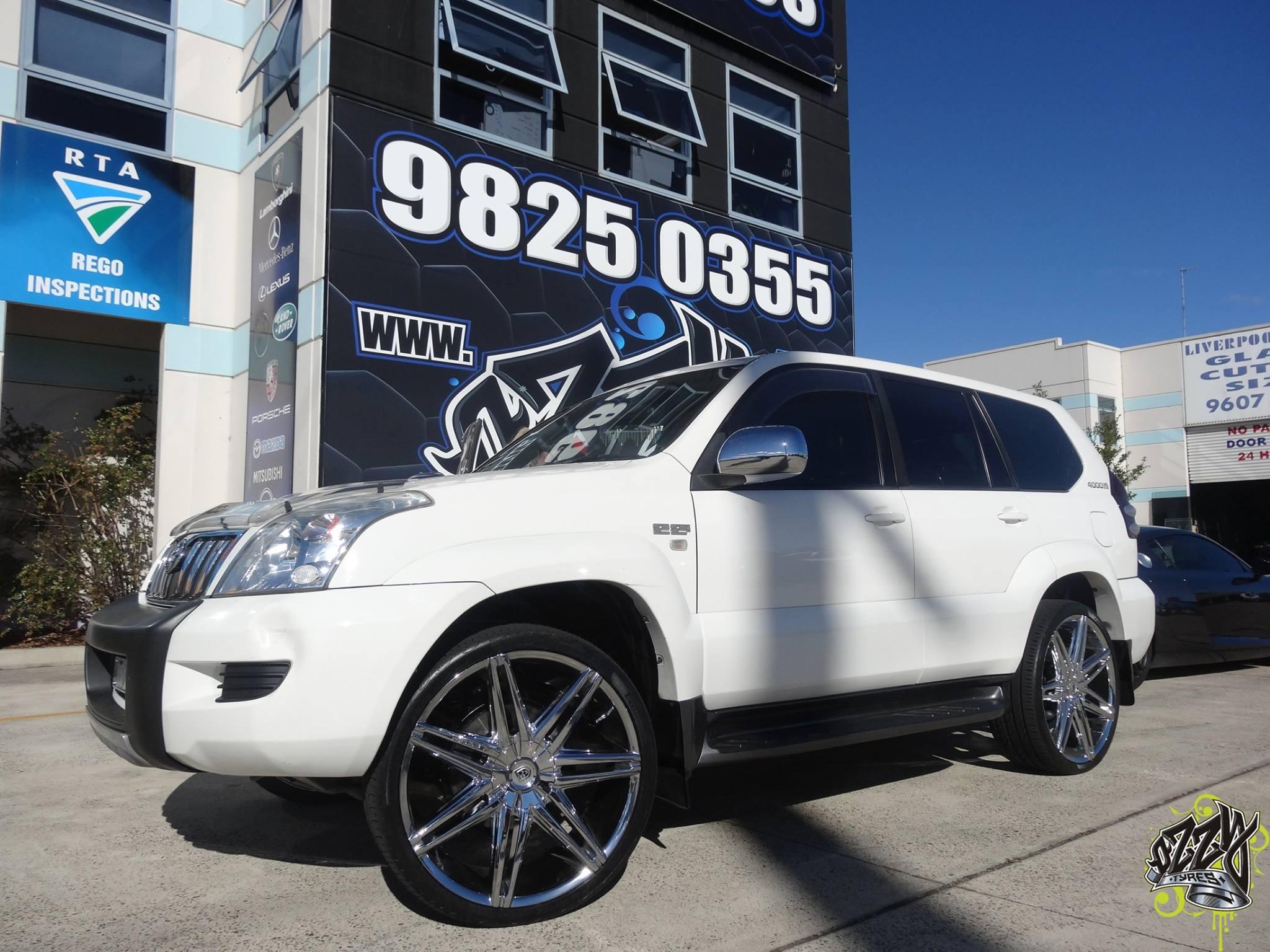 white-toyota-prado-with-lexani-wheels-in-chrome