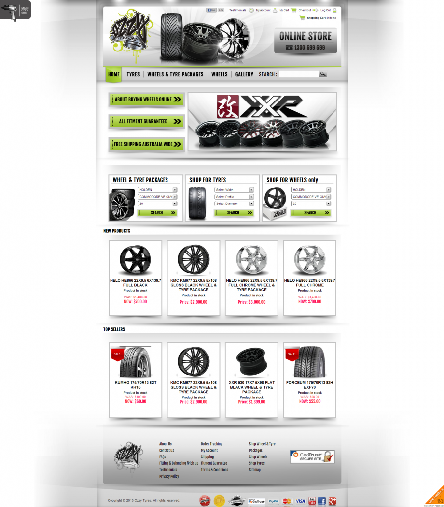Ozzy Tyres Online Store