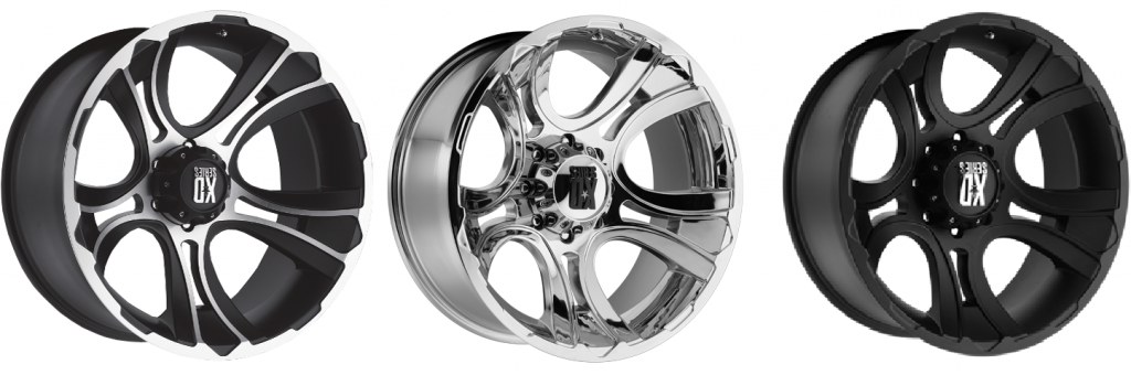 KMC XD Series Crank Wheels in Machine Face, Chrome & Matte Black