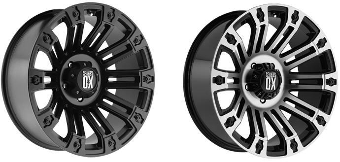 KMC XD Series Brigade Wheels in Satin Black and Machine Face/Black Lip