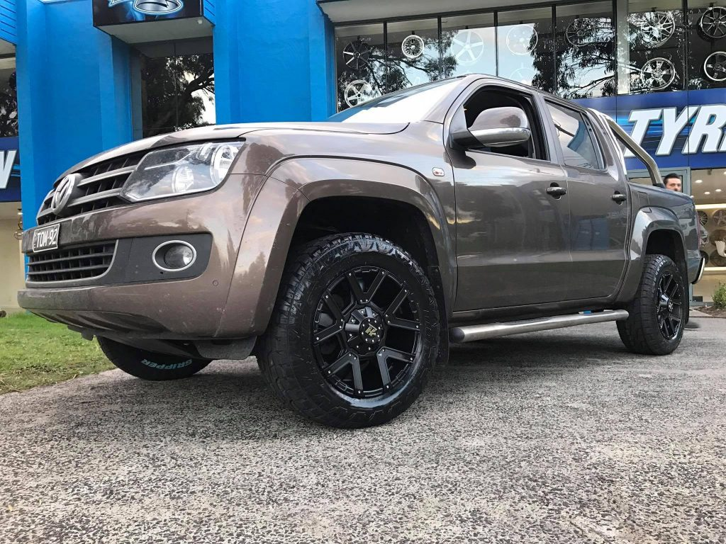 brown-volkswagen-amarok-with-black-hussla-4wd-mag-wheels
