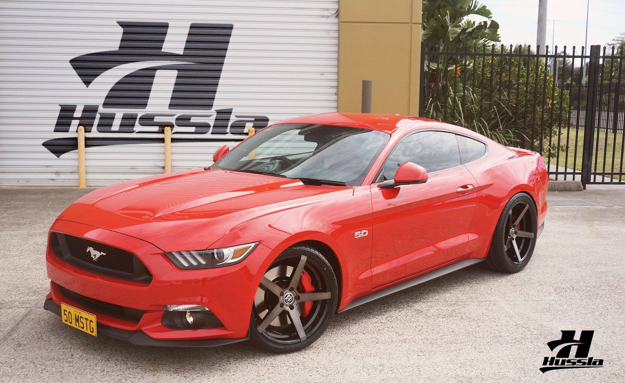 cherry-red-mustang-with-red-beast-with-hussla-zane-wheels-and-lowered-suspension