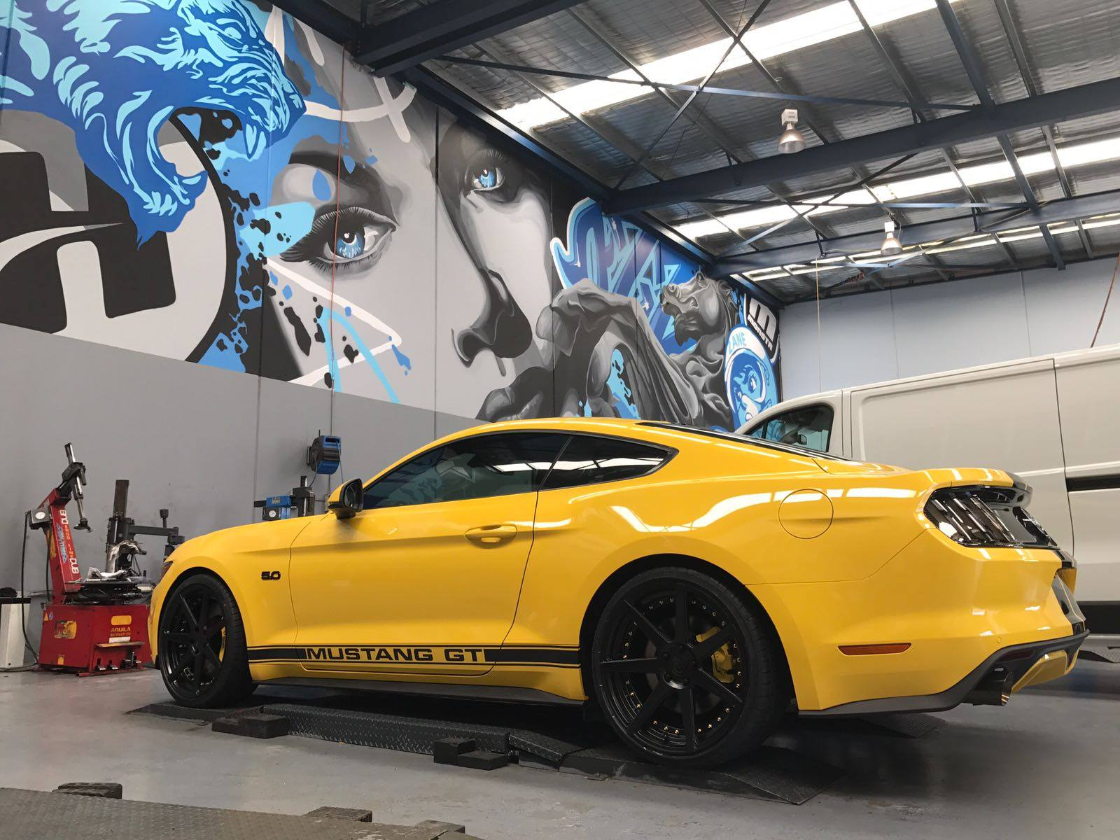 yellow-mustang-with-new-wheels