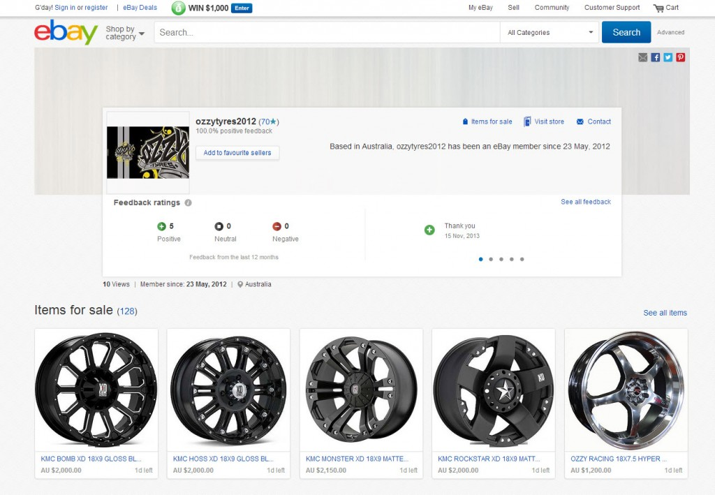 eBay Wheels And Tyres