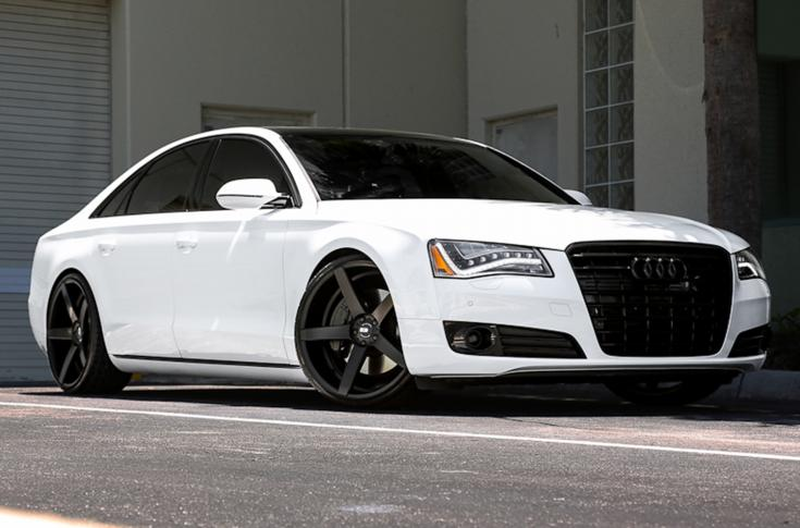 AUDI A8 wheels WITH XO MIAMI WHEELS IN MATTE BLACK
