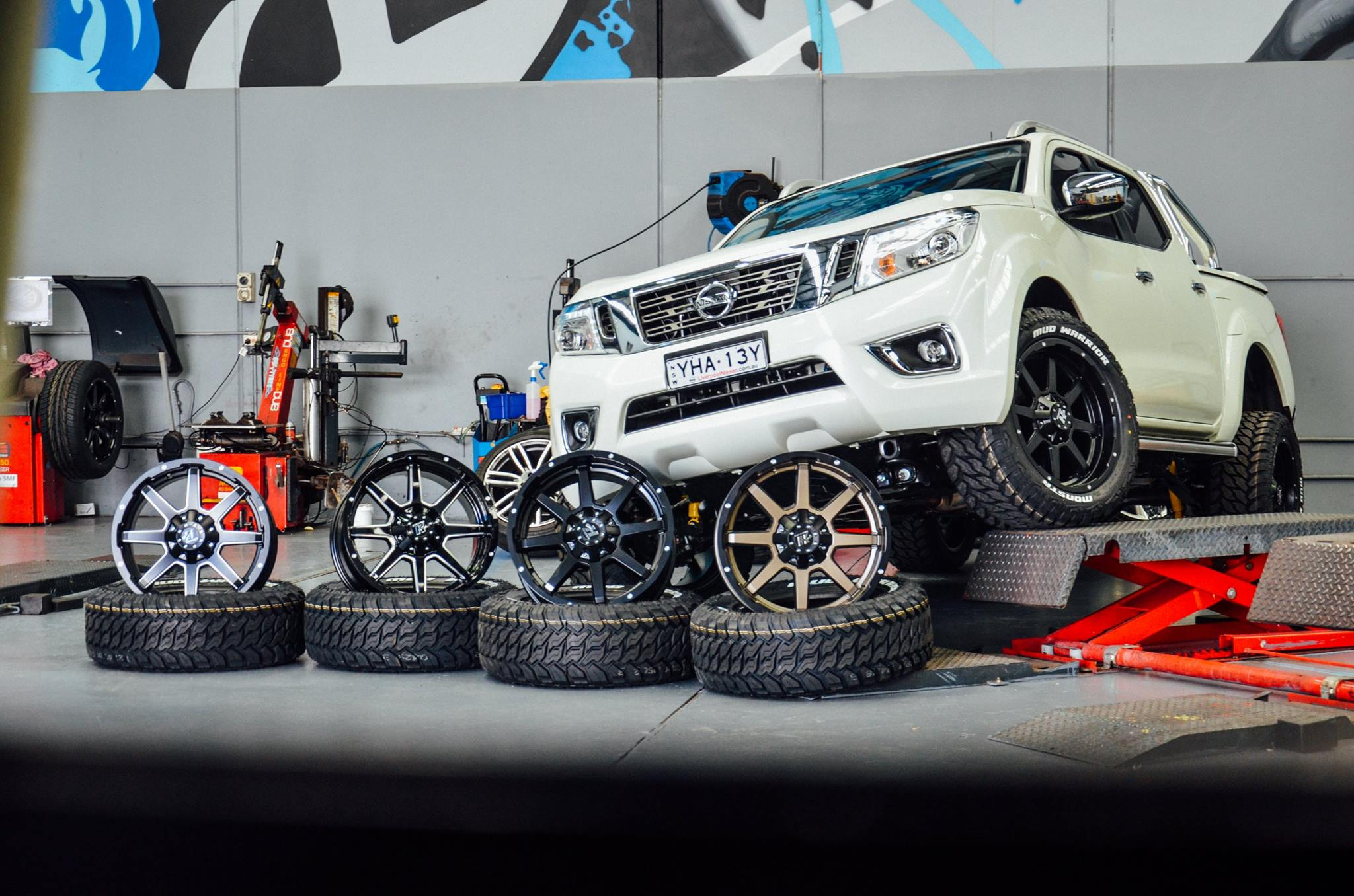 nissan-navara-that-got-fitted-with-a-sweet-set-of-20-hussla-stealth-wheels-wrapped-in-some-monsta-mud-warriors