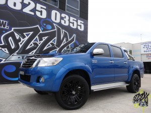 Matte Black 4WD Rims- Toyota Hilux with KMC Brigade in Matte Black