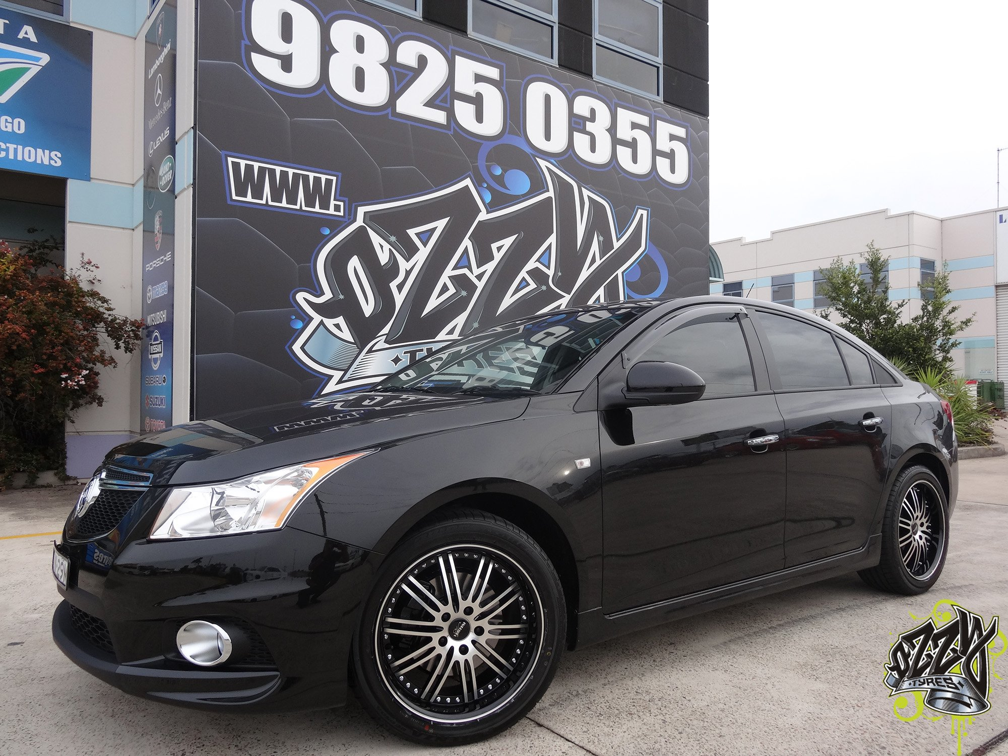 Holden cruze rims available from ozzy tyres australia holden cruze with vertini hennessey black lip vanachro Images