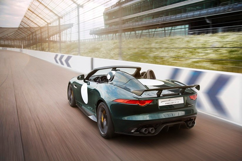 Jaguar F-Type Project 7 Rear View