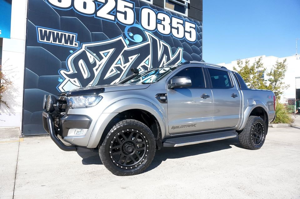 Monster Tyres on a beautiful Ford Ranger