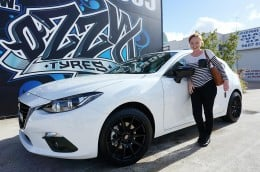 Marlee and her BRAND NEW Mazda 3.