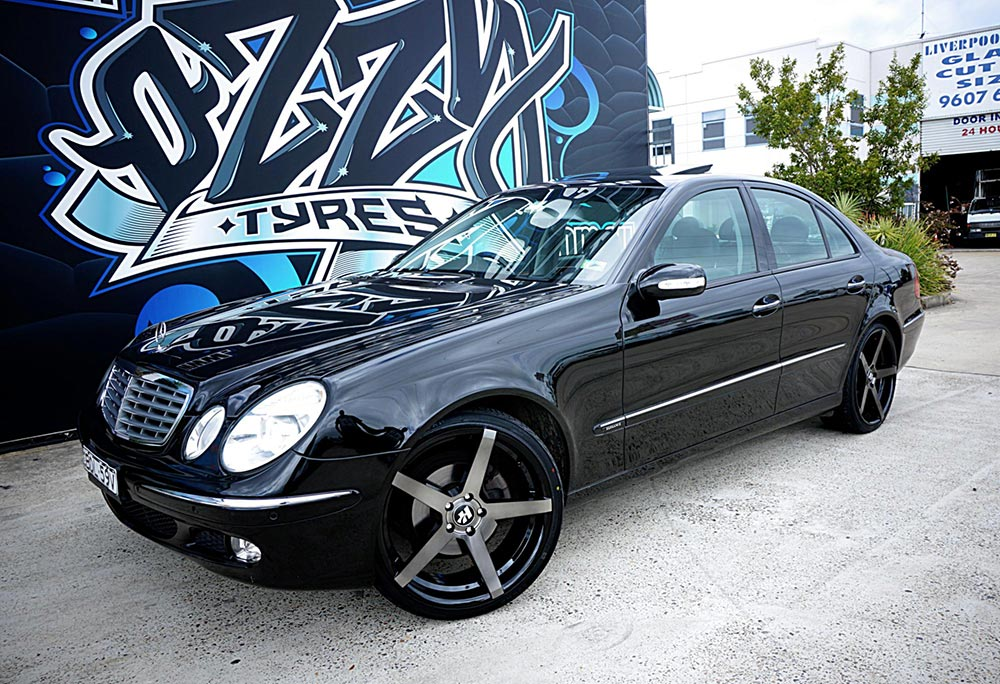 Hussla ZANE looks perfect on this E-class