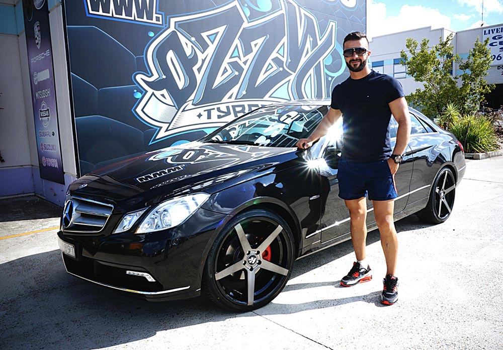 Hussla ZANE looks perfect on this E-class coupe