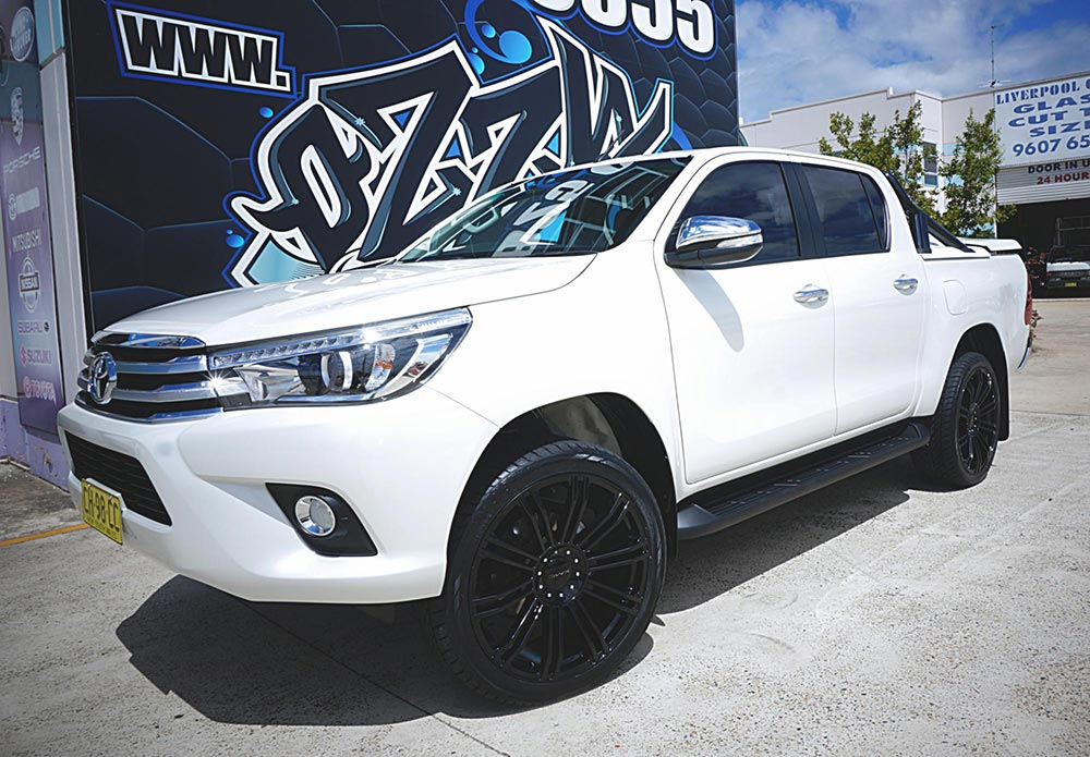 New Toyota Hilux on KMC